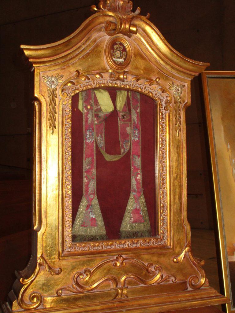 relics of St. Junipero Serra